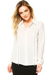 Camisa Manga Longa Ellus Blend Touch Off-White