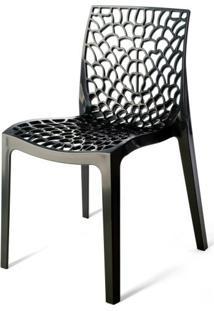 Cadeira Gruver Polipropileno Preto - 15096 Sun House