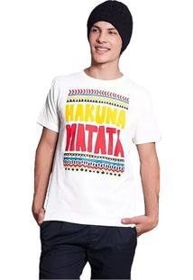 Camiseta Hakuna Matata Geek10 - Branco