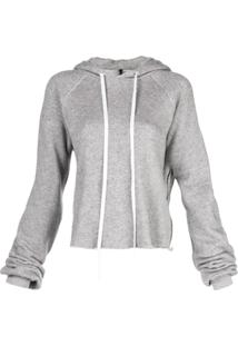 Unravel Project Drawstring Hooded Sweater - Cinza