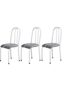 Cadeira Assento Anatomico 3 Peças 00104 Branco Listrado Archeli