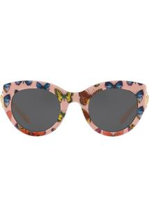 Versace Eyewear Tribute Butterfly Print Sunglasses - Rosa
