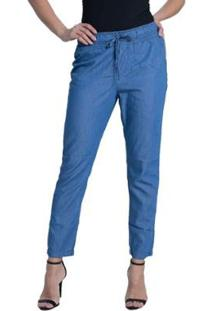 Calça Denuncia Pijama Feminina - Feminino-Azul