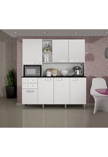 Armário De Cozinha 7 Portas Diamante Sallêto Móveis Branco