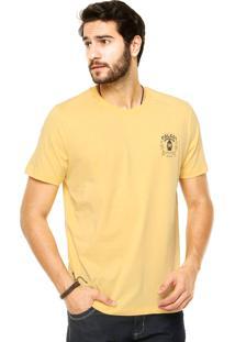 Camiseta Manga Curta Colcci Estampada Amarela