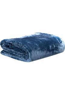 Cobertor De Microfibra Flint Stone De Casal - Azul -Sultan