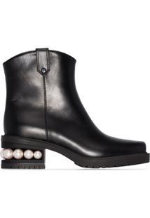 Nicholas Kirkwood Casati Western Ankle Boots - Preto