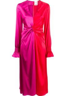 Black Coral Jacqueline Colour-Block Dress - Vermelho
