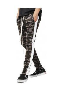 Calça Masculina Camuflagem Army - Branca