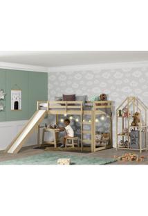 Quarto Infantil Prime Cama Alta Estante E Escrivaninha - Casatema