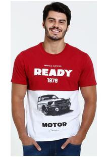 Camiseta Masculina Estampa Carro Manga Curta Marisa