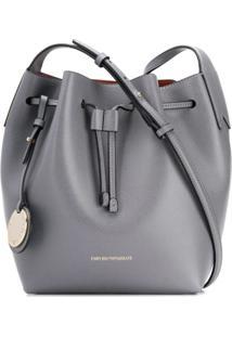Emporio Armani Drawstring Bucket Bag - Cinza