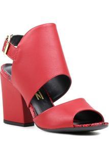 Sandália De Salto Open Boot - Feminino