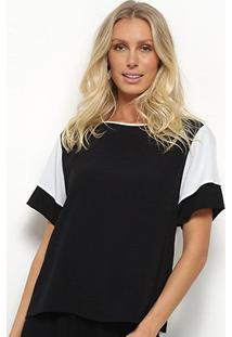 Blusa Forum Maxi T-Shirt Bicolor Feminina - Feminino