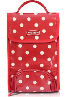 Bolsa Térmica Jacki Design De Plástico Flanelado - Feminino-Vermelho