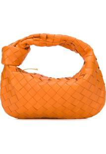 Bottega Veneta Mini Jodie Shoulder Bag - Laranja