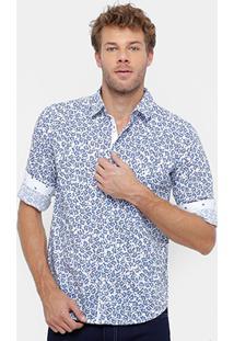 Camisa Colcci Manga Longa Bordado Masculina - Masculino