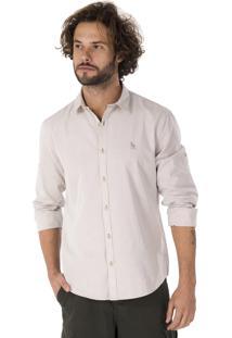 Camisa Side Walk Camisa Chambray Bege