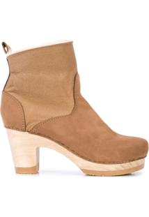 No.6 Shearling-Lined Ankle Boots - Marrom