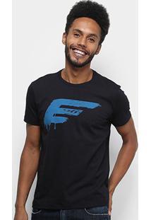 Camiseta Ellus Cotton Fine Painted Easa Classic Masculina - Masculino-Preto