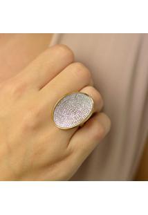 Anel Com Micro Zircônias Cristal 19