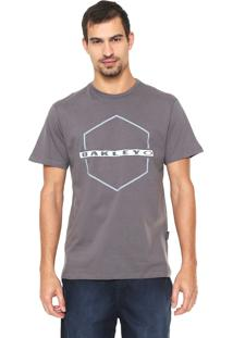 Camiseta Oakley Mod Crossing Hex Tee Cinza