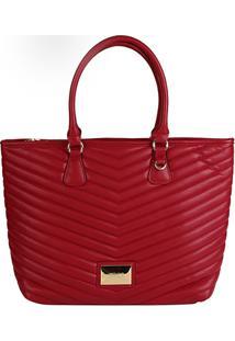 0836fb67a ... Bolsa Santa Lolla Shopper Matelassê Feminina - Feminino-Vinho
