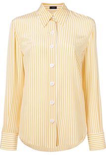 Farfetch. Joseph Camisa De Seda Com Listras Verticais - Amarelo b5f0f58ec14db