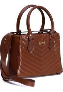 Bolsa Selten Handbag Carteira Textura Alça Transversal Feminina - Feminino-Marrom