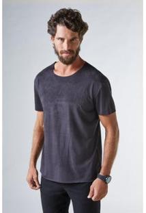 Camiseta Suede Reserva Masculina - Masculino-Preto