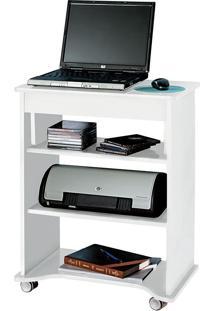 Mesa Para Notebook Com O Tampo Portátil Branco - Artely