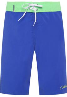 Bermuda Masculina Surf Over Zíper Color - Azul