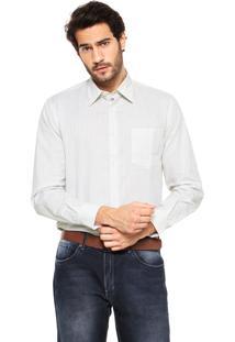Camisa Perry Ellis Xadrez Branca