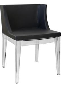 Cadeira Senhorita- Incolor & Preta- 73X50X42Cm- Or Design