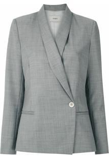 Egrey Blazer Lã Fria Abotoamento Lateral - Cinza