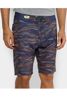 Boardshort Mcd Camouflage Masculino - Masculino-Azul