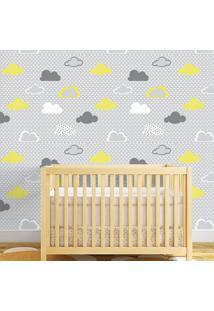 Papel De Parede Nuvens Yellow