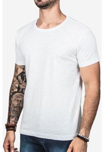 Camiseta Básica Meia Malha Branco 0235