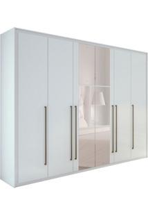 Guarda-Roupa Casal Com Espelho Reali New 6 Pt 6 Gv Branco