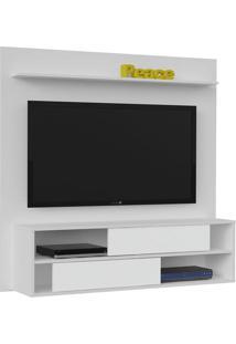 Painel Para Tv De Até 42 Polegadas Flex Color Dallas - Artely Branco Com Antique