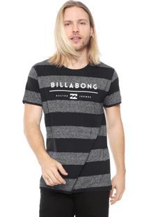 Camiseta Billabong Original Stripe Preta/Grafite