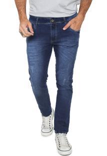 Calça Jeans Fiveblu Slim Estonada Azul