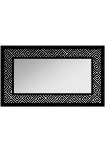 Espelho De Parede 12879P Preto 70X110 Art Shop