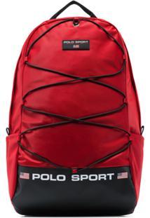 Polo Ralph Lauren Logo Print Backpack - Vermelho