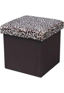 Puff Dobravel Cor Leopardo - 27847 - Sun House