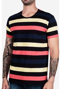 Camiseta Hermoso Compadre Listrada Colors Masculina - Masculino