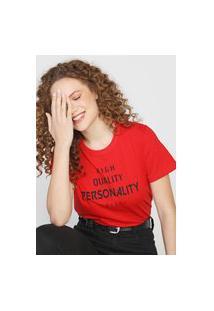 Camiseta Colcci Personality Vermelha