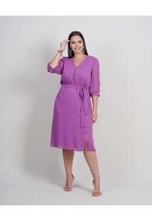 Vestido Midi Almaria Plus Size New Umbi Devorê Rox