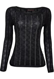 Blusa Bordada Beaumont (Preto, Gg)