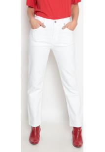 Calça 501® Cropped Em Sarja- Off Whitelevis
